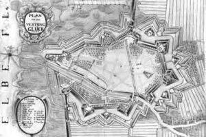 Plan der Festung kurz nach 1720