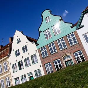 Häuserzeile in Glückstadt / Row of houses