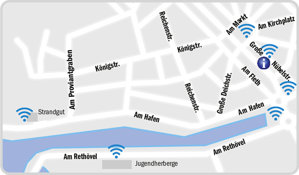 Hotspot Stadtplan / Map of Hotspots