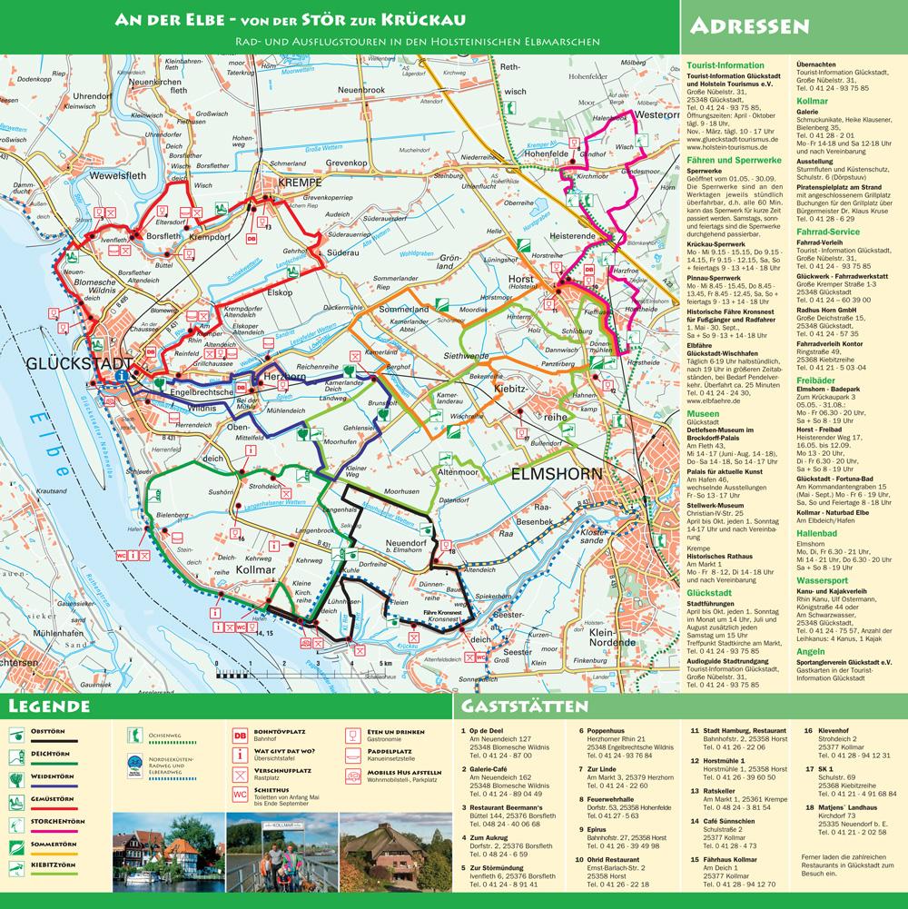 Rad- und Ausflugstouren rund um Glückstadt