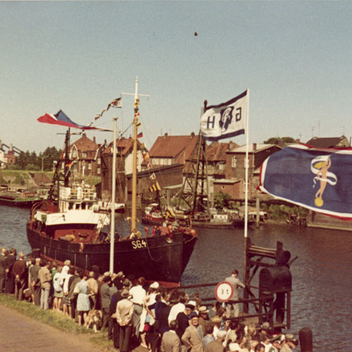 Der Hafen am 13.06.1968 - Copyright Bremer (privat)