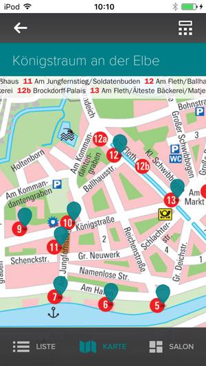 Audiotour Glückstadt Stadtplan