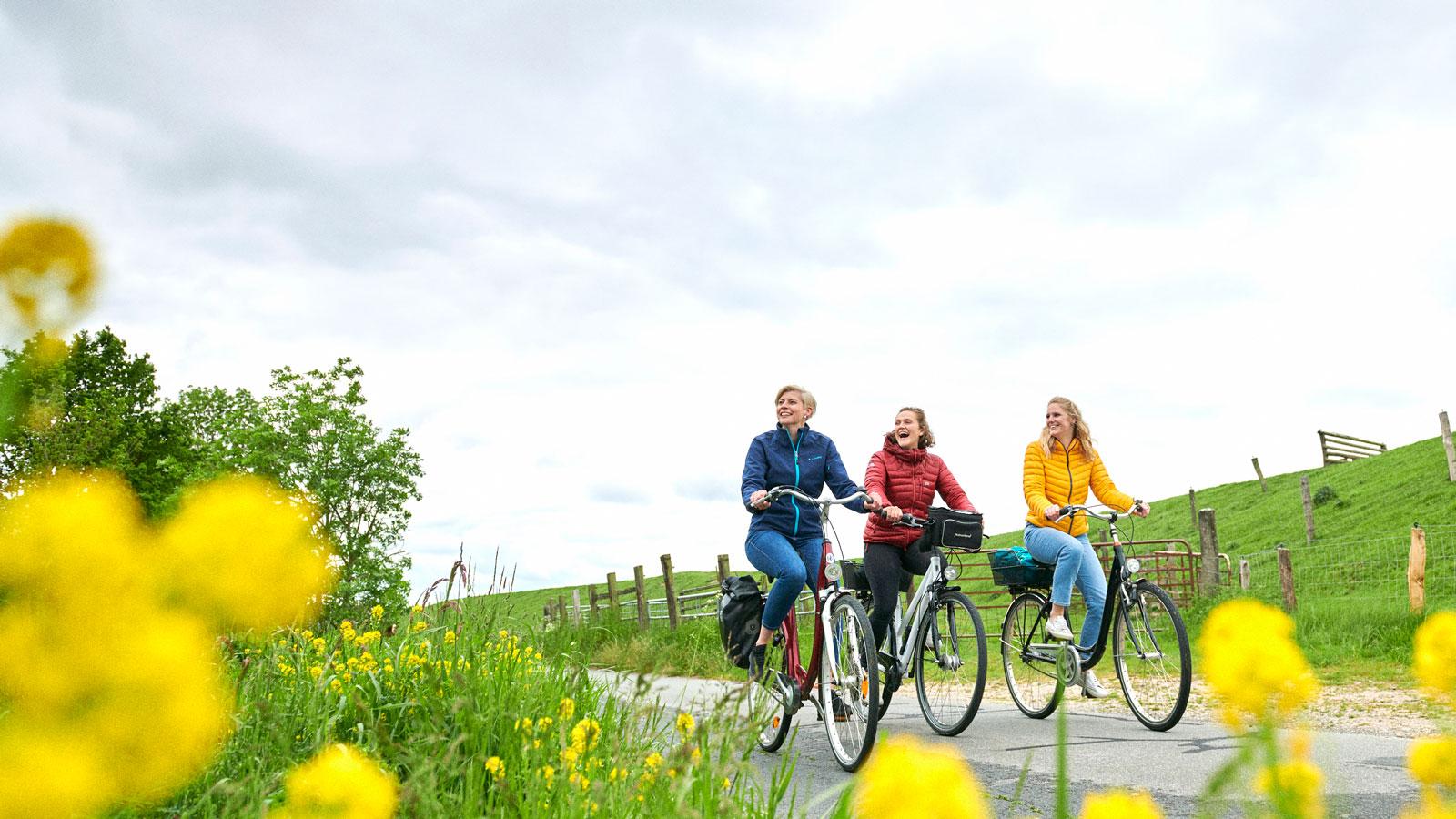 Radfahren rund um Glückstadt (c) GDM, Fotograf Kratz
