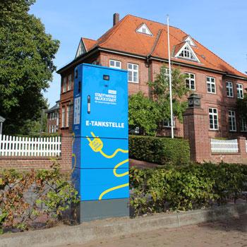E-Ladesäulen für PKW (c) Stadtwerke Steinburg
