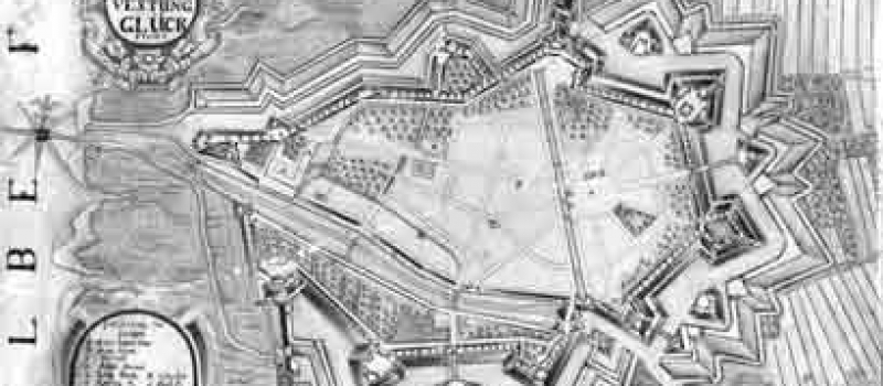 Plan der Festung kurz nach 1720 / Fortress plan around 1720